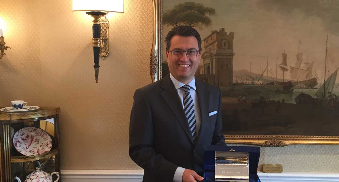 Ehma crowns Alessandro Cabella European Hotel Manager of The Year 2016_1