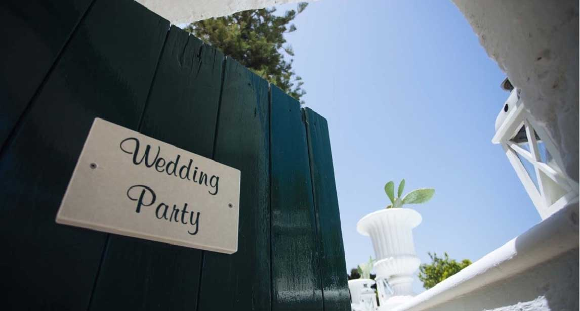 The ideal solution? A wedding party in hotel