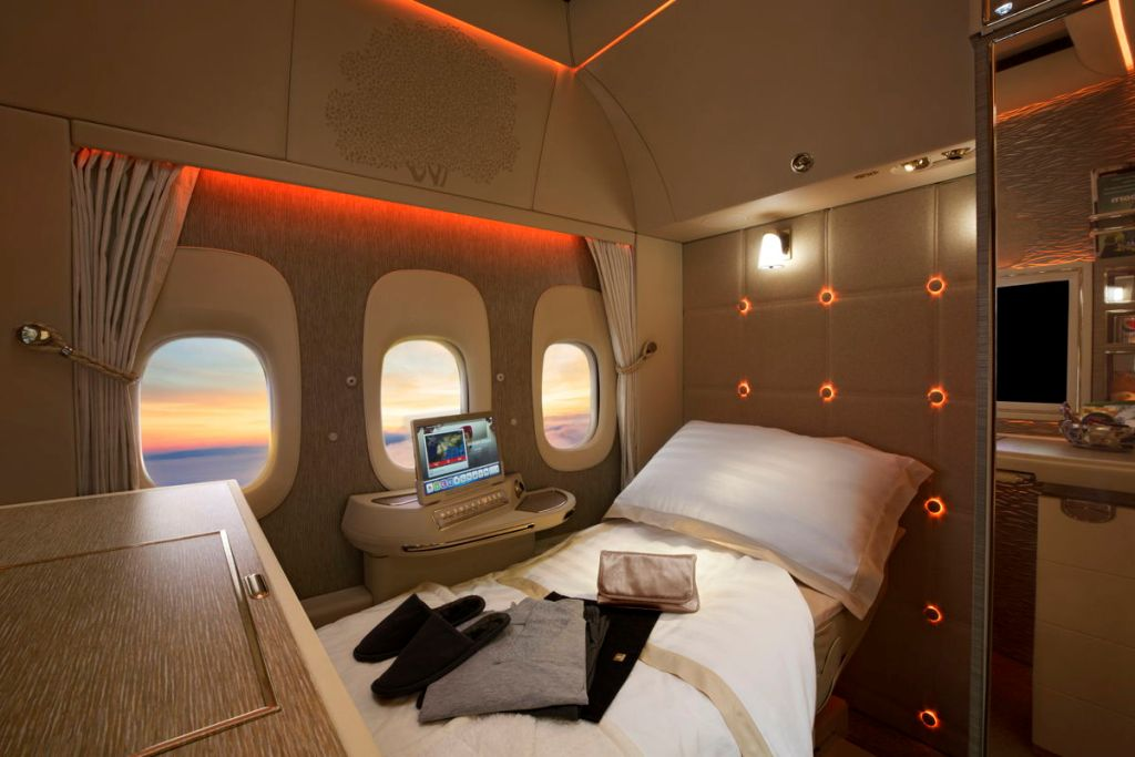 Le nuove suite private di First Class di Emirates vincono l'oro ai Future Travel Experience Global Awards_1