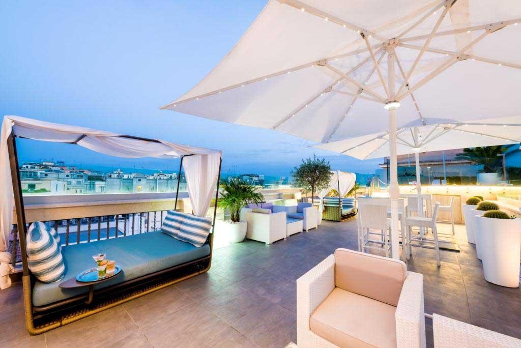 Tramonto Sulla Sky Blu Terrace All Aleph Rome Hotel